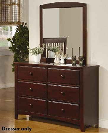 Youth Pine Wood Dresser with Six Drawers in Rich Cappuccino Finish