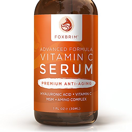Foxbrim-Vitamin-C-Serum-for-Face-1-fl-oz-BEST-Anti-Aging-Serum-Vegan-Hyaluronic-Acid-Amino-Complex-Premium-Face-Serum-for-Beautiful-Skin-Natural-Organic-Perfect-for-All-Skin-Types-Lasting-Results-with