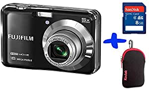"Bundle: Fuji AX650 Digital Camera in Black + Sandisk SD 8GB + Kodak Neoprene Case (Fujifilm Finepix AX650 Black, 16MP, 5xOptical Zoom, 2.7"" LCD, HD video)"
