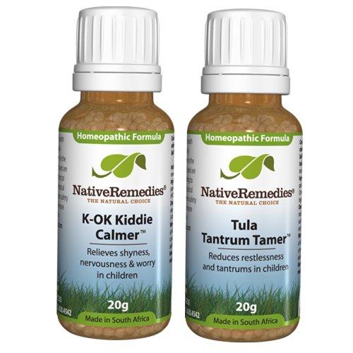 Native Remedies K-Ok Kiddie Calmer And Tula Tantrum Tamer Combopack