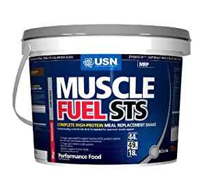 USN Muscle Fuel STS High Protein Meal Replacement Shake Powder, Chocolate - 5 kg