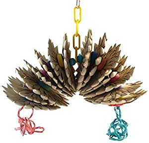 Amazon.com : Giro Piña Hanging juguete tejido Hierba : Pet Supplies