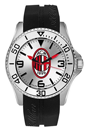 Montre Hommes Haurex Italy Quartz - Affichage  bracelet Caoutchouc Noir et Cadran argent M1393US4