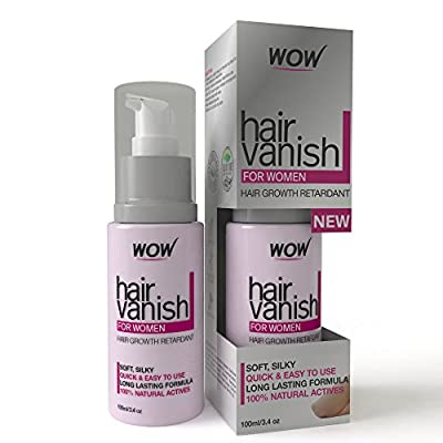 WOW Hair Vanish For Women - Best Hair Retardant - 100ml / 3.4oz - Long Lasting Hair Removal For Women