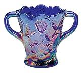 Miles Kimball Carnival Blue Glass Spooner