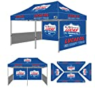 Eurmax PRE 10x20 Pop up Tent Digital Print Event Canopy Custom Graphics Canopy Booth with Backwall Interior Side Printed Only