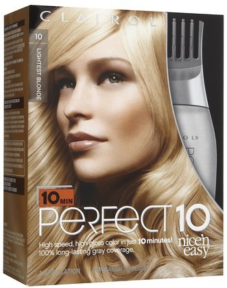 Perfect Hair Color on Click To Clairol Perfect 10 By Nice N Easy Hair Color 010 Lightest