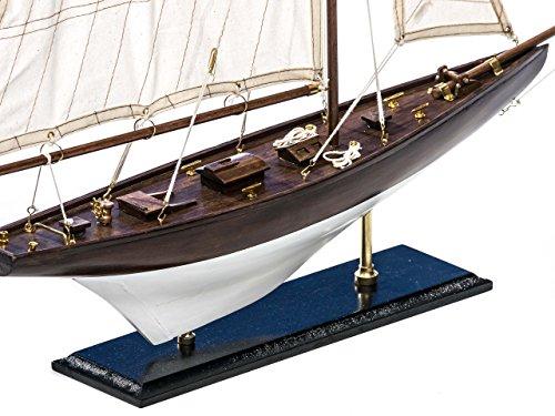 Nautical memorabilia - solid model ship - yacht boat - wood