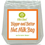 """Nut Milk Bag ★ TOP SELLER! ★ #1 Big 12""""X12"""" - Use As Cheesecloth - Works Better & Outlasts Cheese Cloth - Fine Mesh Strainer - Vitamix Juicing Without A Juicer - FREE BONUS RECIPE BOOK & HOW TO VIDEO - Longest Lasting - Double Stitched - Reusable - Food Grade Strainer - All-Purpose Nutmilk Bag ★ #1 Rated Blender Juicer - Cold Brew Coffee Maker - Sprouting Bag - Loved by Vegans - Vegetarians - Organic & Paleo - Raw Foodies and Healthy Eaters ★ We 100% Guarantee You Will Love It!"""