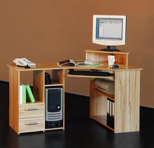 4505-137cm-Eck-Schreibtisch-Computertisch-in-kernbuche