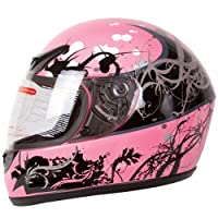 Gloss Pink Japanese Style Motorcycle Street Bike Full Face Helmet DOT (S) from Ivolution Sports, Inc