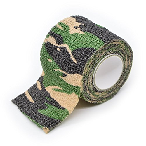 Freehawk® Self-adhesive Outdoor Military Camo Set of Camo Form Multi-functional Non-woven Camouflage Wrap Tape Waterproof Camo Stealth Tape Perfect for