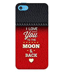 99Sublimation Love Quotes 3D Hard Polycarbonate Back Case Cover for Apple iPhone 5c