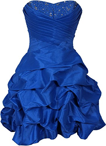 KAY&LAYLA Women's Beaded Taffeta Mini Bubble Party Dress Prom Homecoming Dresses