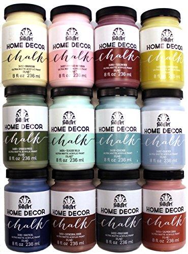 FolkArt Home Decor Chalk Paint Set (8 Ounce), PROMO845B (12-Pack) (Home Decor Chalk Paint compare prices)