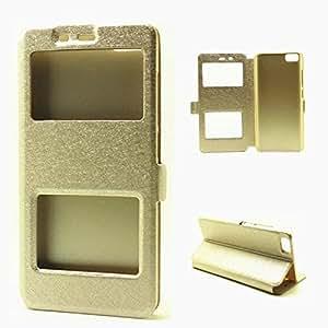 Excelsior Premium Sparkling Window View Flip Cover Case for Xiaomi Mi5 - Gold