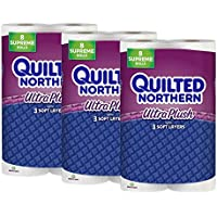 Quilted Northern Ultra Plush Toilet Paper 24 Supreme Bath Tissue Rolls (92+ Regular)