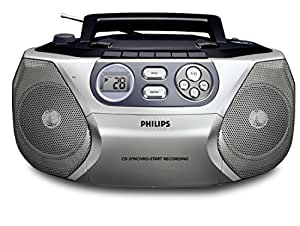 Philips- Boombox Stereo Cd Soundmachine With Cassette Player And Am/Fm Radio