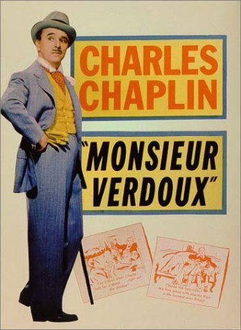movie poster of Charlie Chaplin in Monsieur Verdoux