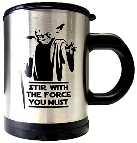 Star Wars Yoda Self Stirring and Spinning Mug - Stir With The Force You Must