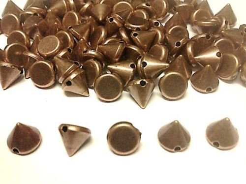 100pcs Acrylic 8mm Copper Spike Studs Sew On, Stitch On, Stick on Embellishments
