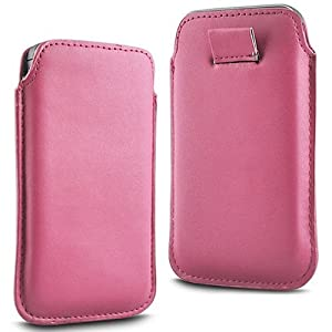 N4U Accessories Twin Value Pack - 2 X Light Pink Superior Pu Soft Leather Pull Flip Tab Case Cover Pouch For Nokia C5-05
