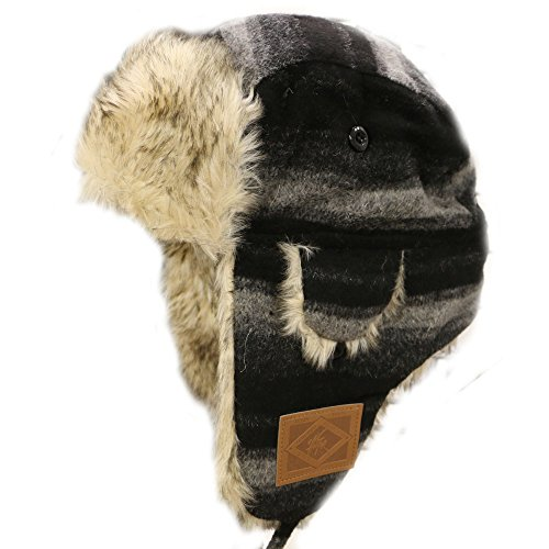 city-hunter-w300-premium-wool-trapper-hats-multi-colors-440-black-dark-gray