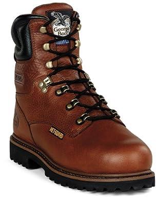 "Georgia Boot Men's G83 8"" Steel Toe Metatarsal Comfort Core Welt Work Shoes,Greasy Briar Full Grain Leather,7 M"