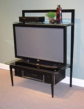 4D Concepts Entertainment Stand, Black/Metal