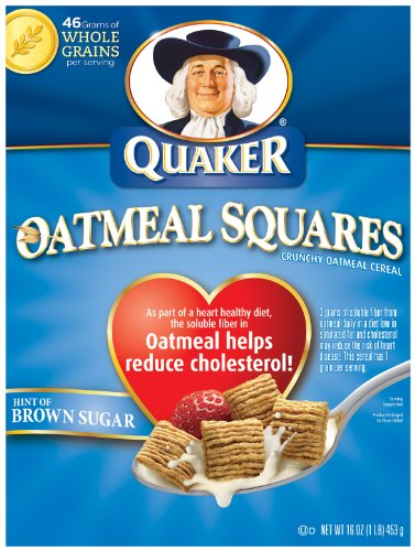 Quaker Oatmeal Squares Crunchy Oatmeal Cereal With A Hint