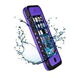 Iphone 5C IPX68 Waterproof Case Cover,Nika shop Series Untra Full Body Armor Heavy Duty hockproof Dustproof Sweatproof, Dirtproof Snowproof Snow Proof Durable Protective Hard Shell Cover Case With Built-In Ultra Clear Screen Protector For iphone 5C Verizon, AT&T Sprint, T-mobile, Unlocked - Retail Packaging (Nika shop-Purple)