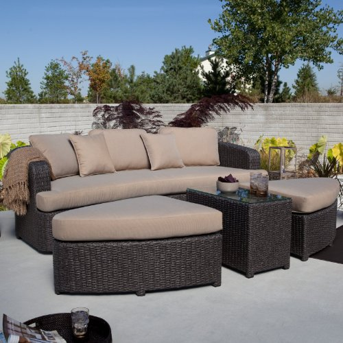 Montclair All Weather Wicker Sectional Patio Sofa Set