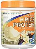 Growing Naturals Rice Protein Isolate Powder, Vanilla Blast, 16.4 Ounce