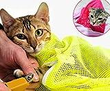 ShanTrip 不思議と落ち着く 猫 メッシュ ネット 爪切り シャンプー 病院や移動時に ねこ キャット ペット 用品 (スカイブルー)