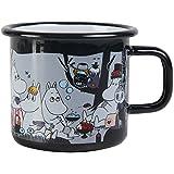 """Muurla 3.7 dl Enamelled Steel """"Moomin Picnic"""" Moomin Mug, Black"""