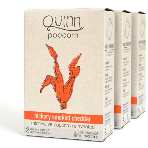 Quinn Popcorn: Microwave Popcorn Reinvented {Hickory Smoked Cheddar} 3Pk