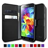 Fintie Samsung Galaxy S5 Wallet Case - Premium Vegan Leather Stand Cover For Galaxy S5 / Galaxy SV / Galaxy S...