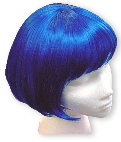 Halloween Costumes For Women With Short Hair Electric Blue Wig