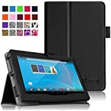 "Fintie Chromo 7"" Tablet Folio Case Cover - Premium Leather With Stylus Holder for Chromo Inc 7 Inch Android Tablet - Black"