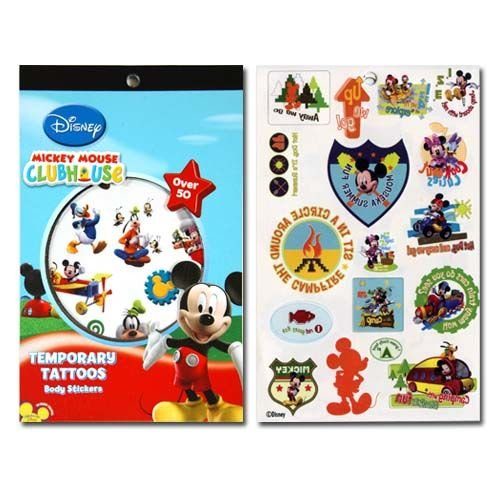 WeGlow International Mickey Mouse Clubhouse 4 Sheet Tattoo Book (Set of 3)