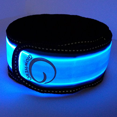 LED Slap Bracelet - Glow Band by GlowHERO -- Sweat Resistant High Visibility Safety Wristband - Replaceable Battery - Reflective Stitching - Fits Women, Men & Kids (Neon Blue) Mind Games T-Shirt