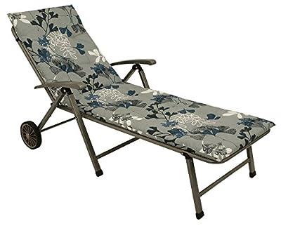 Liegenauflage ALABAMA 60x190cm, blau/hellblau geblümt von gartenmoebel-einkauf auf Gartenmöbel von Du und Dein Garten