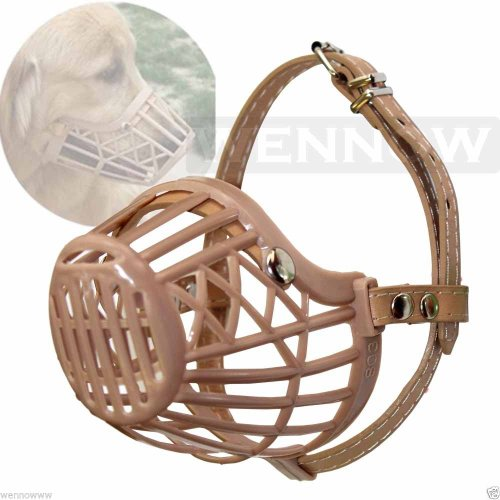 Plastic Basket Muzzle For Dogs front-1050366