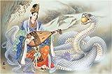 1000ピース 金運白蛇 1000-312