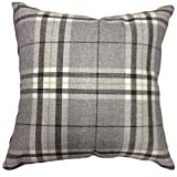 "That's Perfect! Scottish Tartan Plaid Decorative Throw Pillow Sham - Fits 18"" x 18"" Insert (Grey)"