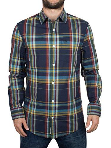 original-penguin-uomo-logo-camicia-slim-fit-a-quadri-multicolore-small