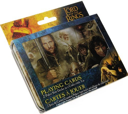 Lord of the Ring Double Deck Playing Cards in Collectible Tin - 1
