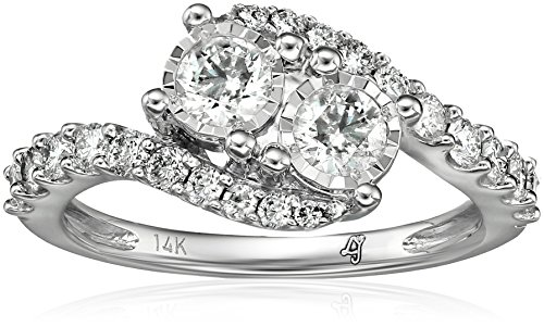 10k-2-Stone-Diamond-Miracle-Plate-Engagement-Ring-1cttw-H-I-Color-I2-I3-Clarity-Size-7