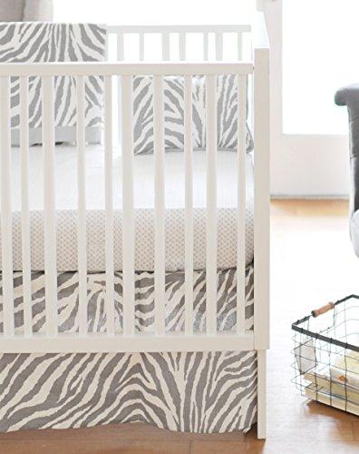 New Arrivals 2 Piece Crib Bed Set, Safari in Gray