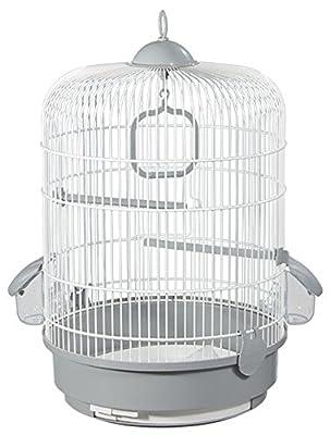 Voltrega White Grey Bird Cage 32,5 X 48 Cm 736